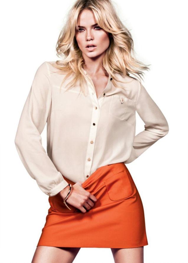 服装 超模/本季,瑞典快速消费品牌H&M大手笔找来Sasha Pivovarova、...