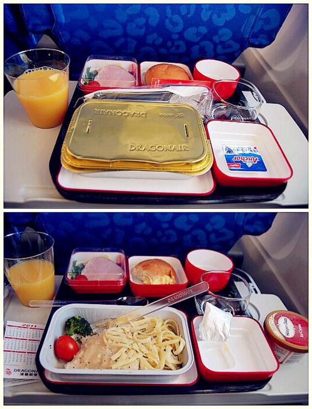 港龙航空的飞机餐