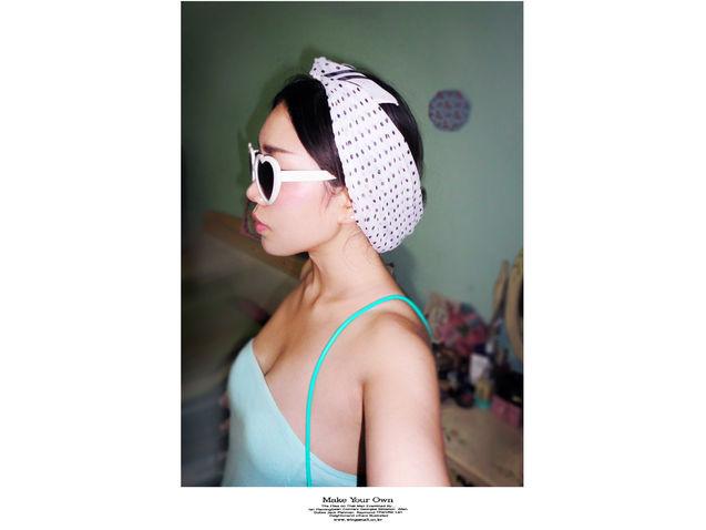 个性 街拍/#潮拍# 薄荷绿 + 头巾