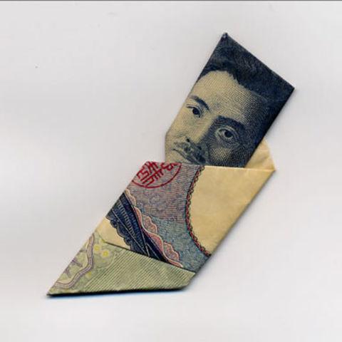 搞笑图片 艺术 纸币/【日本折纸大师Yosuke Hasegawa 用纸币创出帽子戏法!