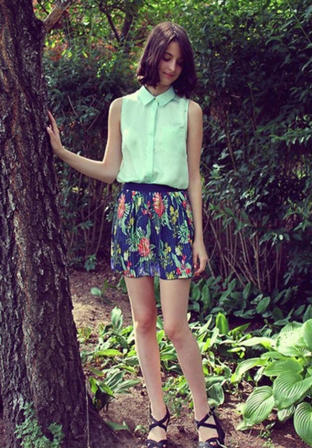 个性 潮流/#潮流words# fresh mint green(薄荷绿) blouse