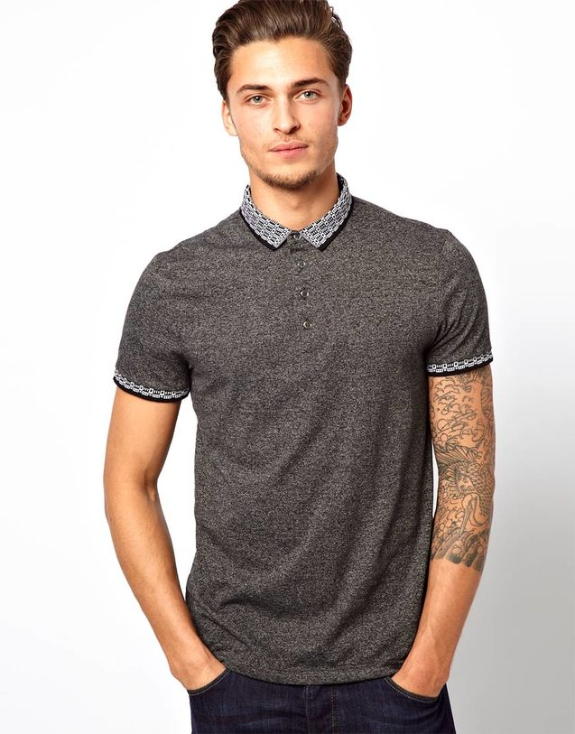 保罗/2013男装春款River Island保罗Polo衫跳色短袖T恤衫