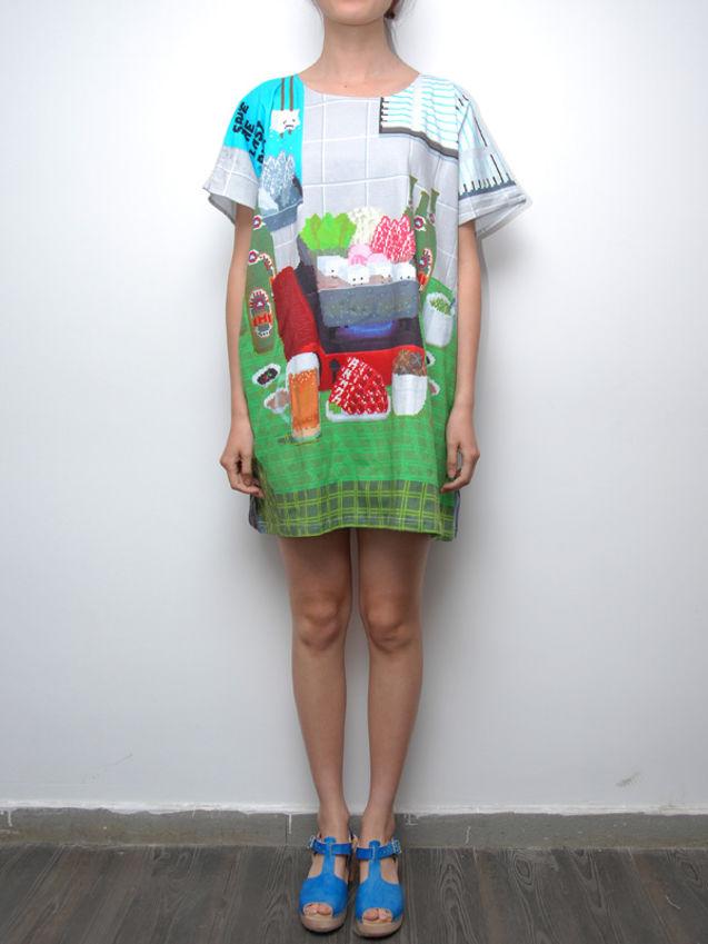图案 数码/数码印花电子像素图案方形T恤(啤酒)