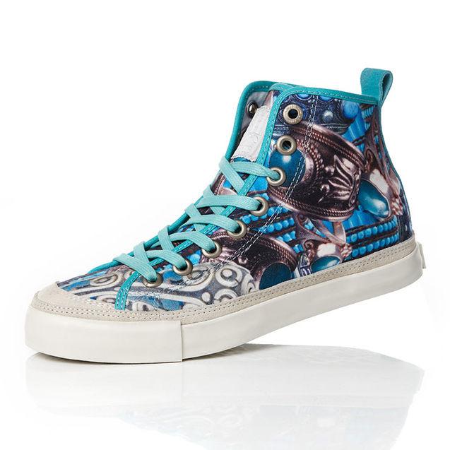 北京 珊瑚/女款珊瑚纹印花高帮硫化鞋