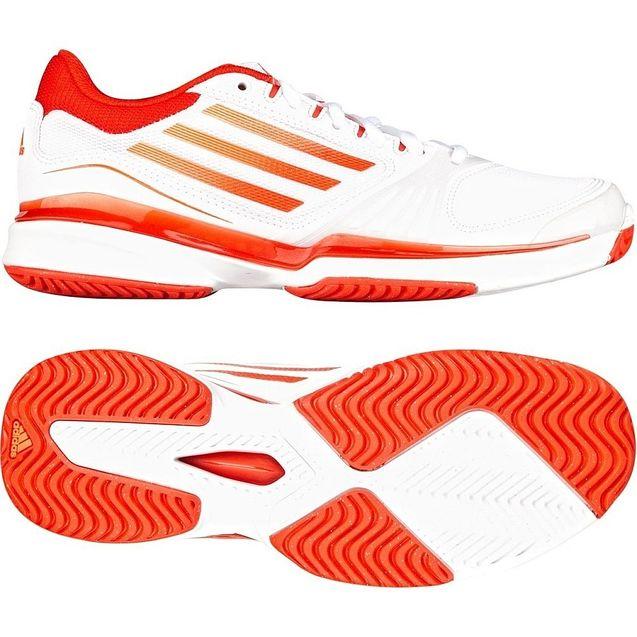 苏黎世/adidas 阿迪达斯网球女adiZERO场上款网球鞋 橙V23760