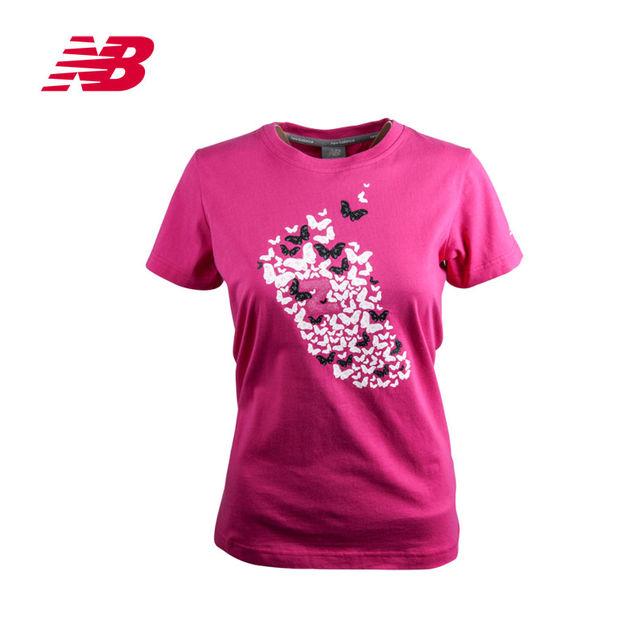 个性 新百伦/新百伦公司女衣圆领短袖T恤