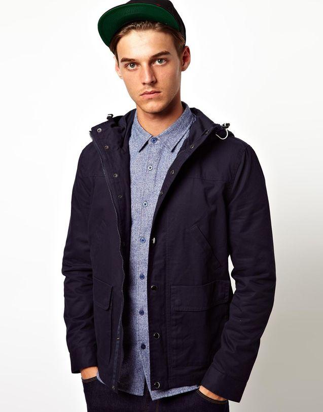 男士 英国/【英国代购】正品ASOS Hooded 男士英伦风休闲连帽款夹克外套