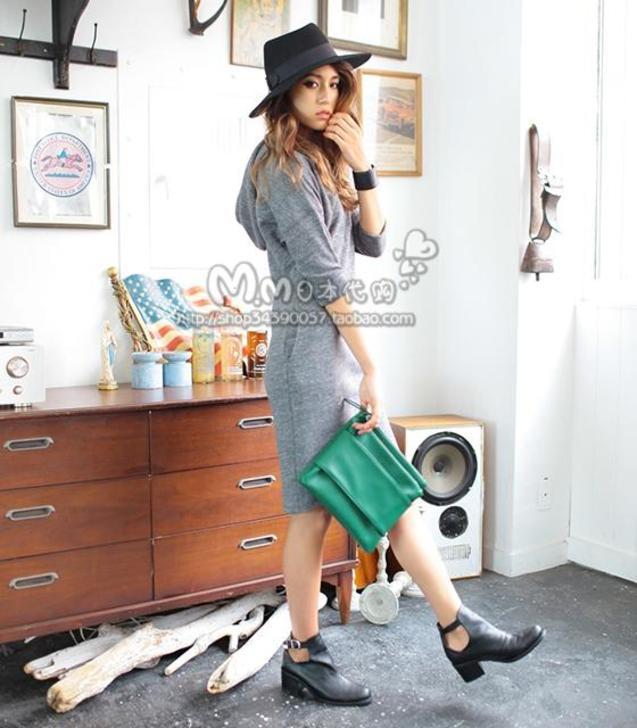 日本 连衣裙/日本代购直邮moussy 2013年9月新款休闲连衣裙(3色)