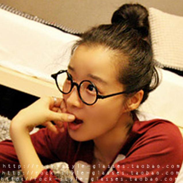 滕井/滕井太郎 板材黑框复古眼镜架 圆框超轻近视眼镜框