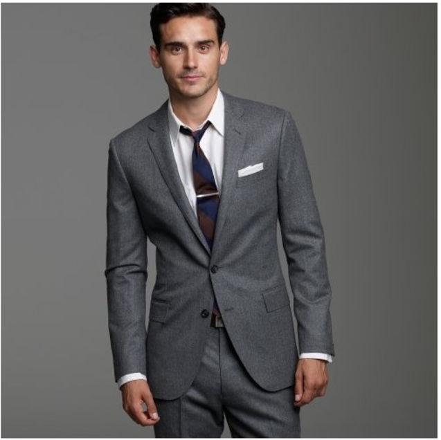 个性 街拍/★凡人梦想★美国代购J. CREW 羊毛法兰绒双排扣西装外套