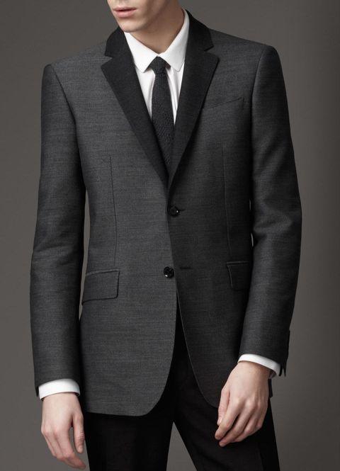 个性 街拍/巴宝利burberry新款London系列男装/西服侧开衩羊毛38222771...