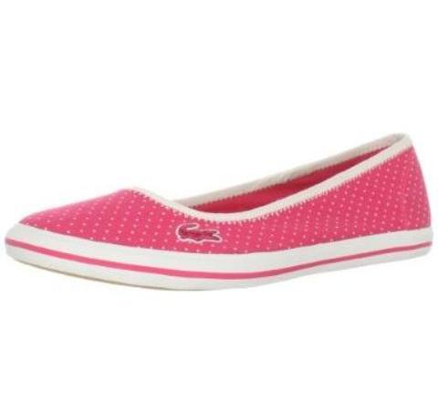 个性 街拍/美国正品代购 法国鳄鱼 lacoste 时尚运动鞋女鞋特价直邮粉色