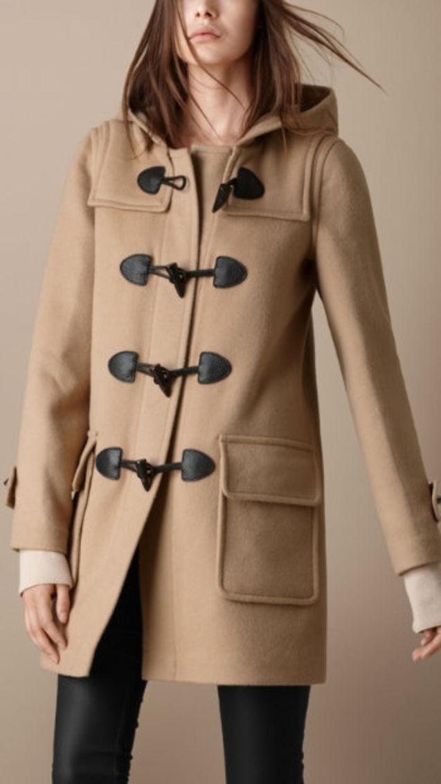 个性 大衣/国内现货正品巴宝利BURBERRY女款纯羊毛经典牛角扣大衣