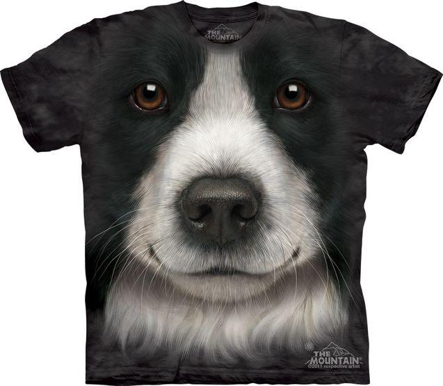 新款 边境牧羊犬/美国代购The Mountain13新款边境牧羊犬女款亲子装夏装短袖T恤