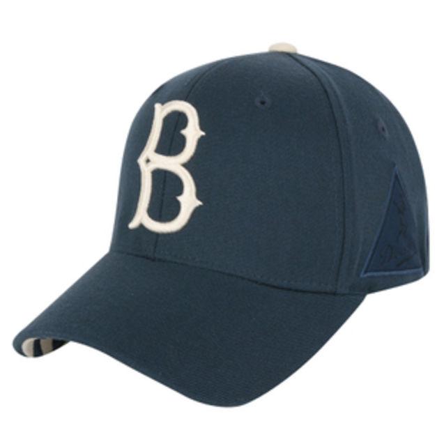 白标/MLB棒球帽正品LA鸭舌帽子男女白标深蓝色保暖帽休闲帽韩国代购
